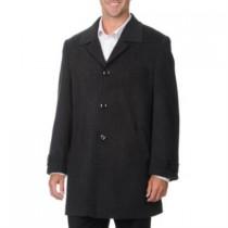 'Rodeo' Coat-Men's Dress Charcoal Cashmere Blend Car Coat