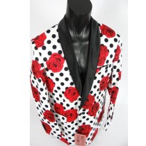Mens Cheap Priced Jacket For Men Red Shawl Lapel With Black Lapel