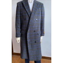 Mens Dark Gray Overcoat - Full Length Topcoat - Wool Coat