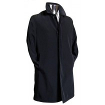 Men's Black 3/4 Rain coat and Removable Inner Lining