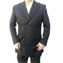 Double Breasted Alberto Nardoni Blazer Sport Coat In Black