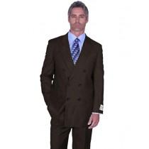 Brown Alberto Nardoni Peak Lapel Double Breasted Suit