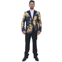 Mens Peak Lapel Single Breasted Navy Blazer Sport Coat