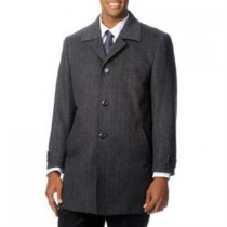 Herringbone Dress Coat 'Rodeo' Grey Tweed Cashmere Blend - Cashmere Topcoat - Mens Cashmere Overcoat - Cashmere Coat