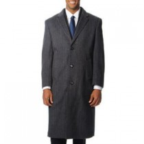mens herringbone topcoat Long 'Harvard' Grey Tweed Cashmere Overcoat