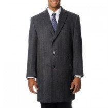 mens grey car coat Cashmere Blend Long Pronto Moda 'Ram' Top Coat