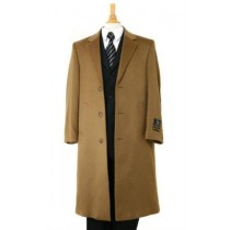 Harward Luxurious Cashmere &Wool Full Length Camel overcoat - Mens Topcoat - Wool Top Coat