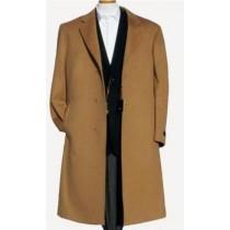Harward Luxurious Camel Cashmere & Wool Overcoat