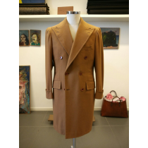 MEN'S  - LIGHT BROWN -  CAMEL DOUBLE BREASTED OVERCOAT - MENS CASHMERE TOPCOAT -Vicuna - Coat