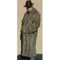 Mens Dress Coat Long Length Faux Fur Coat Topcoat Overcoat