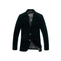 Alberto Nardoni Single Breasted Olive Green Velvet