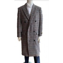 Mens Overcoat - Gray Full Length Topcoat - Wool Coat