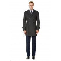 Mens Knee Length Pea coat  Charcoal  Mens Peacoat