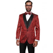 Alberto Nardoni Mens Red Sport Coat Two Toned Blazer