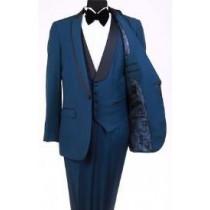 Mens Bryan Michaels Shawl Collar Royal Blue Tuxedo