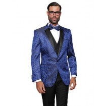 Alberto Nardoni Mens Royal Blue Sport Coat Two Toned Blazer