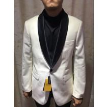 Alberto Nardoni White Shawl Lapel Brand Blazer Overcoat