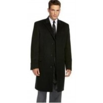 Black Slim Fit overcoat that offers a sleek, modern style