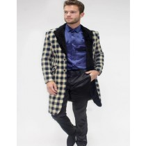 Three Quarter Mens Overcoat-Car Coat-Peacoat