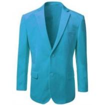 Mens Alberto Nardoni Aqua Color Two Button Velvet