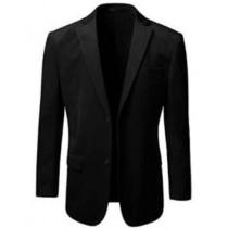 Mens American Alberto Nardoni Black Two Button Velvet