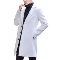 Mens White Peacoat - White Wool Overcoat