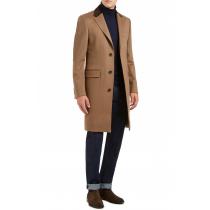 Mens Wool and Cashmere tan Overcoat -tan Topcoat