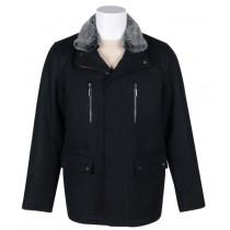 Peacoat With Fur Collar - Mens Short Peacoat - Wool Peacoat