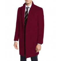 Nardoni Three-Quarter To Kneed Pea Coat-Mens Wool Car Coat