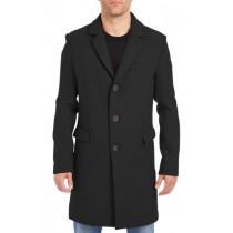 Nardoni Mens Wool Car Coat-Three-Quarter To Kneed Pea Coat