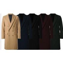 Mens Overcoat- Multi color Double Breasted Alberto Nardoni