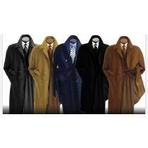 Mens Overcoat- Multi color wool blended Alberto Nardoni