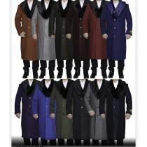 Mens Overcoat-  Multi color full length  Alberto Nardoni