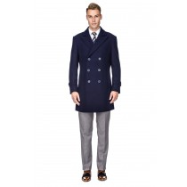 Mens Knee Length Pea coat Navy Mens Peacoat