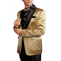 One Button Alberto Nardoni Notch Lapel Slim Fit Suit Gold