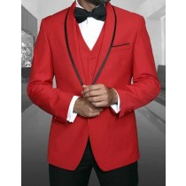 RED ONE BUTTON BLAZER