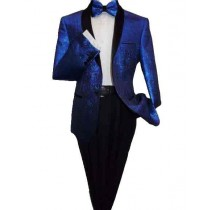 Alberto Nardoni Mens Single Breasted Royal Blue Blazer