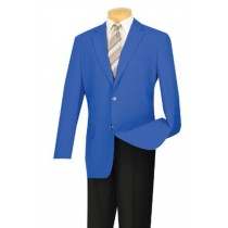 BLAZER JACKET WITH GOLD BUTTONS ROYAL BLUE