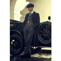 Brand New Quality Peaky Blinders Style Tweed Vested Peaky Blinders Suit - Peaky Blinders Outfit + Overcoat + Hat