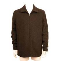 Wool coat with zipper - Peacoat with zipper Charcoal