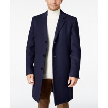 Lauren Ralph Lauren Men's Luther Wool Blend Blue Top Coat