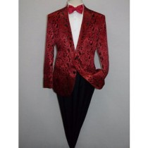 Mens Red Jacket Tuxedo Blazer Notch lapel Sport coat