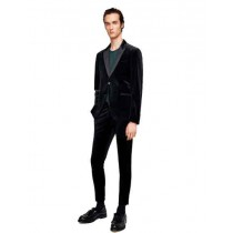 Peak Lapel Alberto Nardoni Velvet Suit In Black
