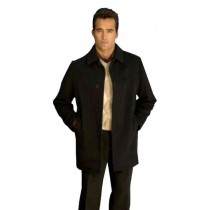 Mens single breasted model with vent wool blend Overcoat