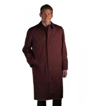 Single Breasted Classic Poplin hidden button Rain coat Brown