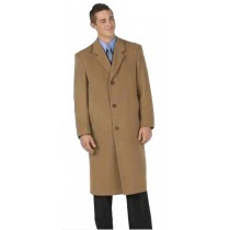"45"" single breasted classic model features button, notch lapel coat"