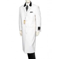 White mens cashmere overcoats full length Top Coat