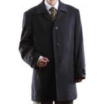 Men's Dress Coat Charcoal Wool Cashmere Topcoats ~ overcoat