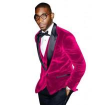 Alberto Nardoni Fuchsia Velvet Suit