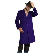 Mens Alberto Nardoni Brand Full Length Coat Indigo - Mens Topcoat